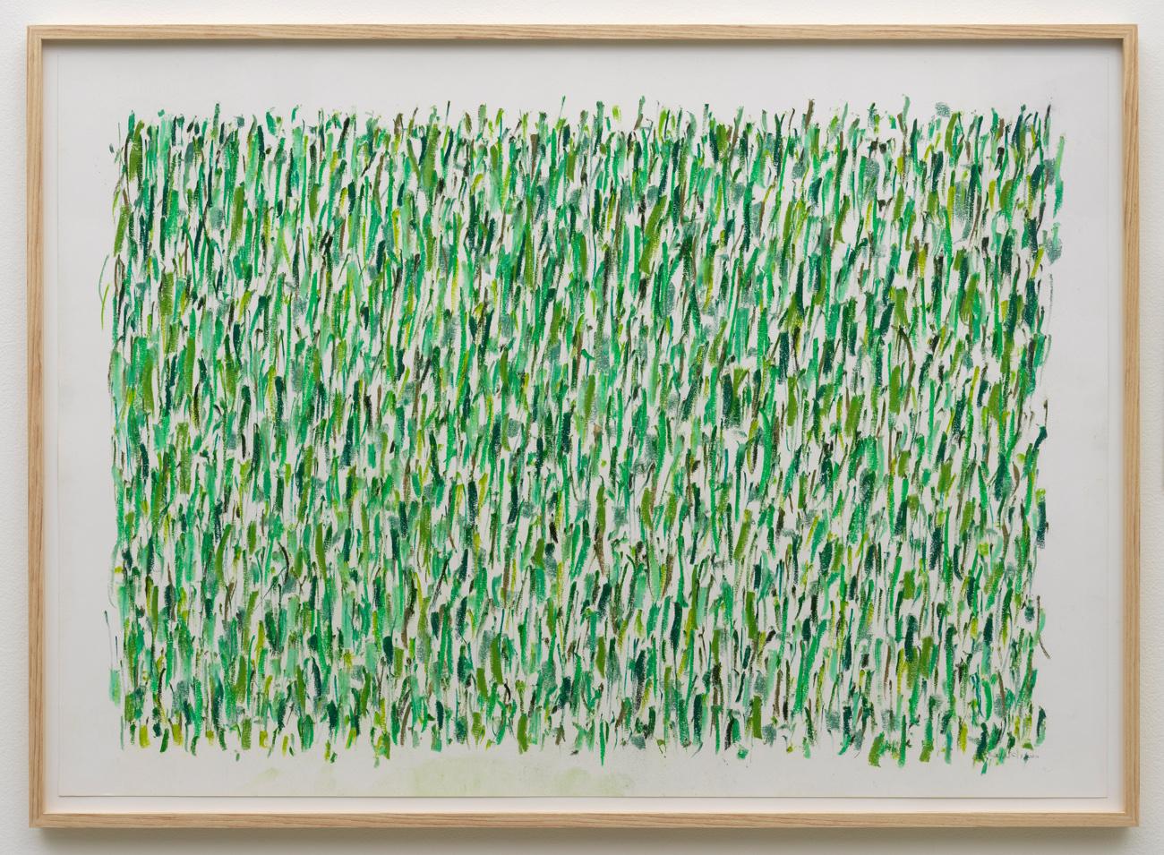 herman de vries, untitled (green:19x), 2012