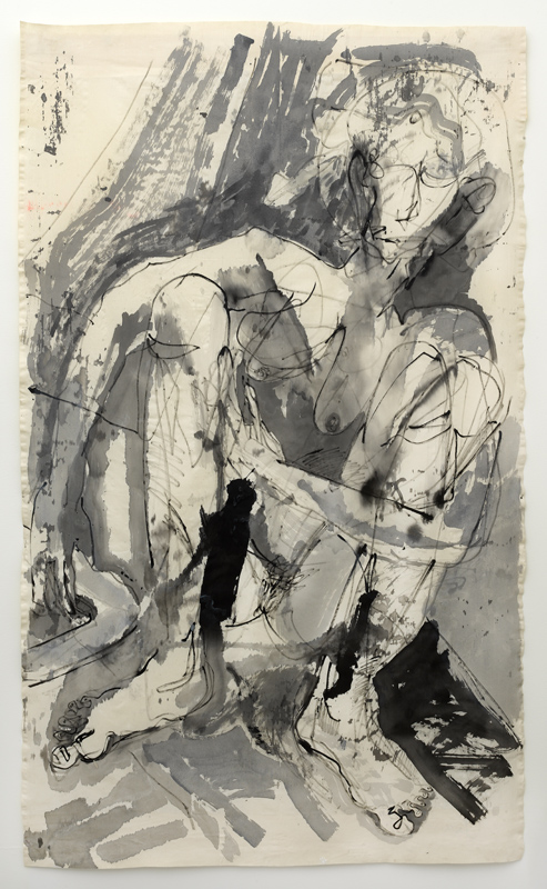iva gueorgueiva, self portrait with boomerang, mud and defiance, 2021